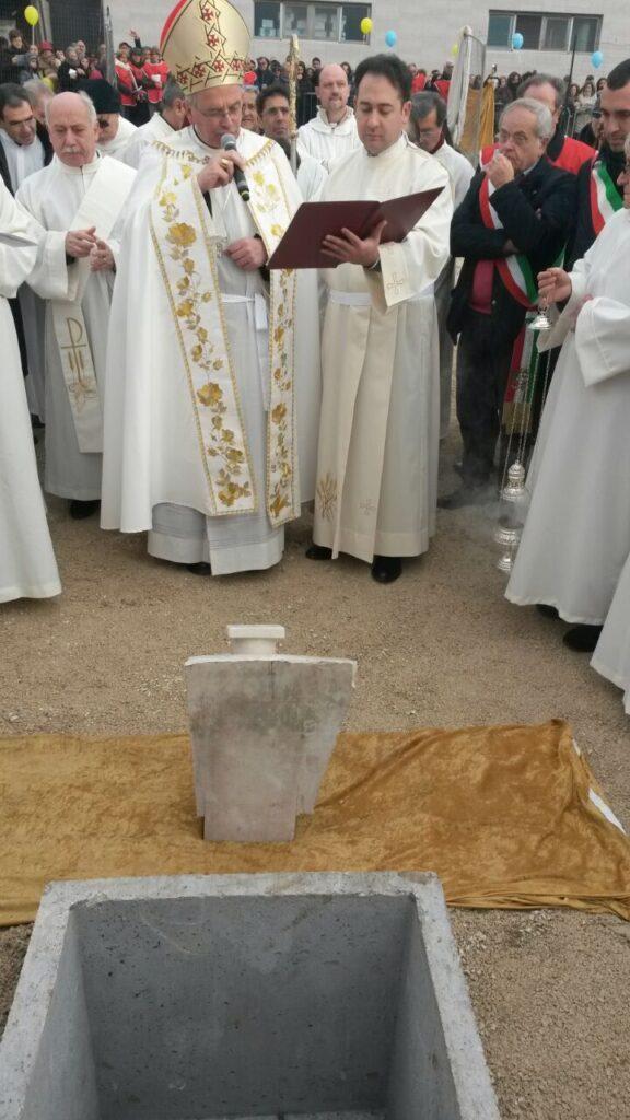 Villa Literno – Posa prima pietra nuova chiesa 2