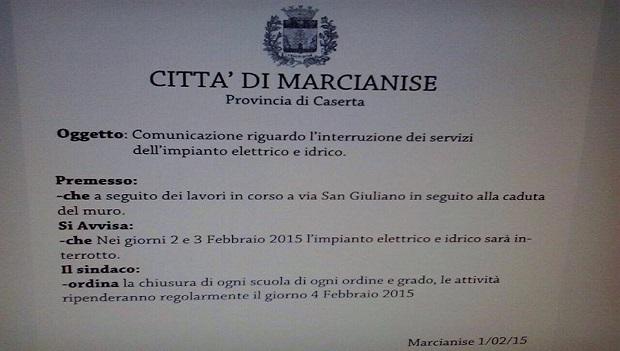 Marcianise - falsa ordinanza