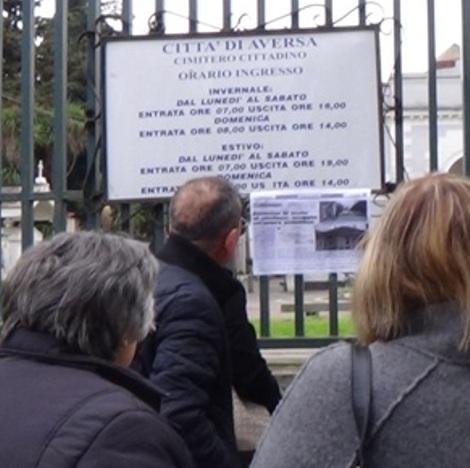 Aversa – Cimitero cartello Afivs