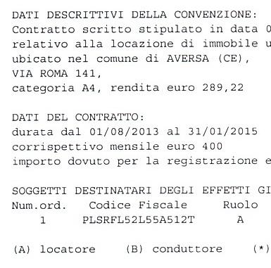 Aversa – Contratto sede FI