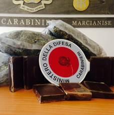 Marcianise – hashish marijuana carabinieri