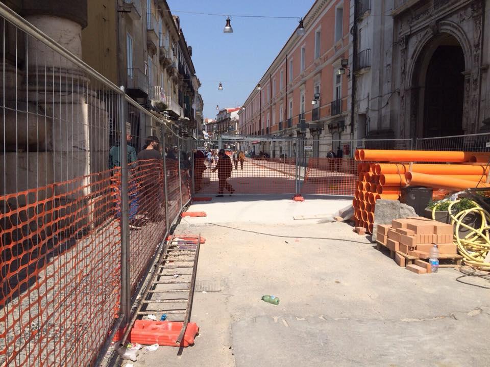 Aversa – il cantiere di Via Roma (2)