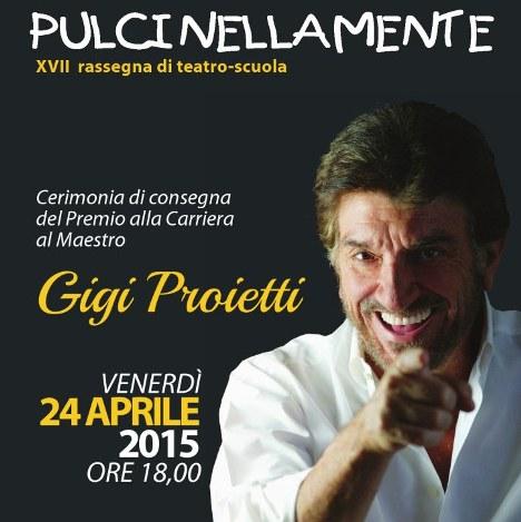 Gigi Proietti a Pulcinellamente