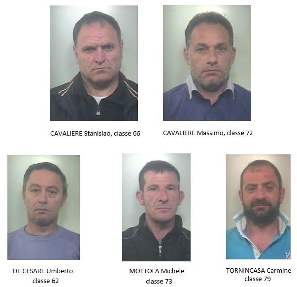 Casal di Principe, rapine e furti: 5 arresti