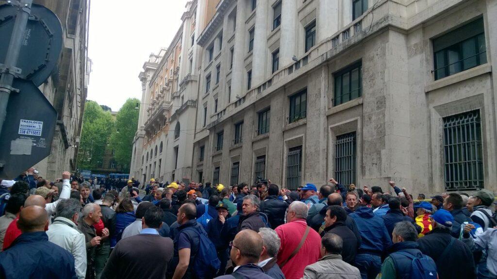 Indesit – Protesta a Roma (2)