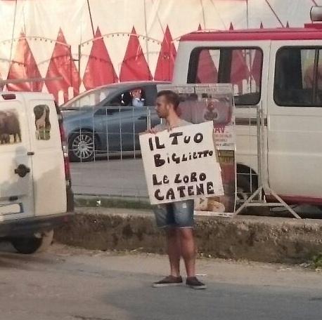 Aversa – protesta animalisti (1)