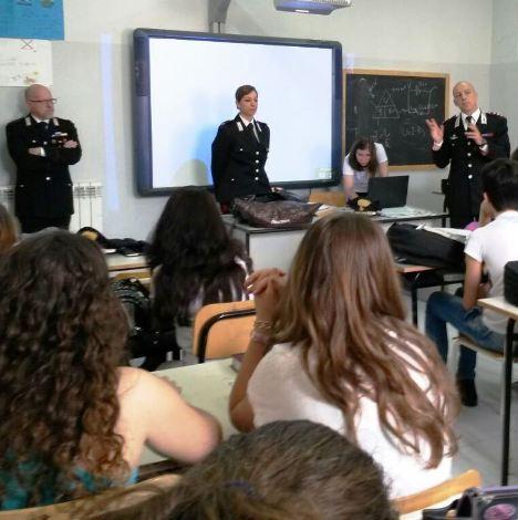 Casal di Principe, carabinieri in classe