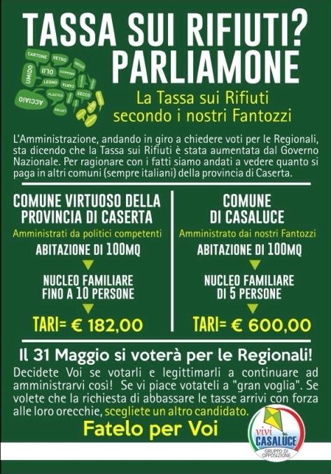 Casaluce, manifesto Tari