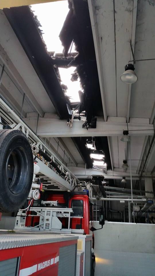 Gricignano – Incendio lavanderia (26.05 (12)