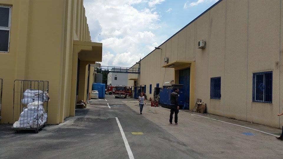 Gricignano – Incendio lavanderia (26.05 (13)