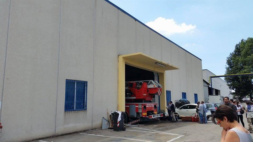 Gricignano – Incendio lavanderia (26.05 (2)