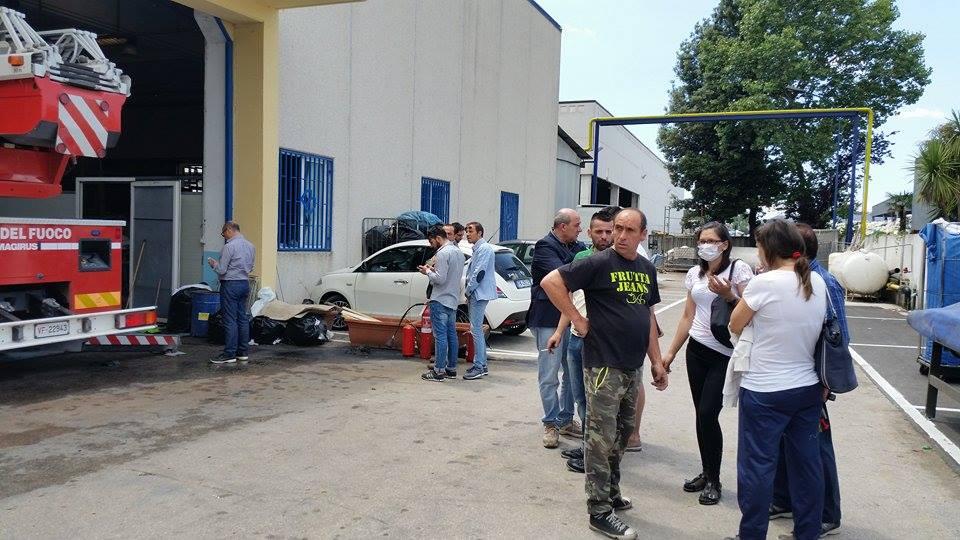 Gricignano – Incendio lavanderia (26.05 (3)