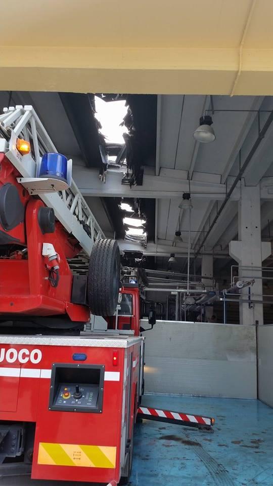 Gricignano – Incendio lavanderia (26.05 (5)