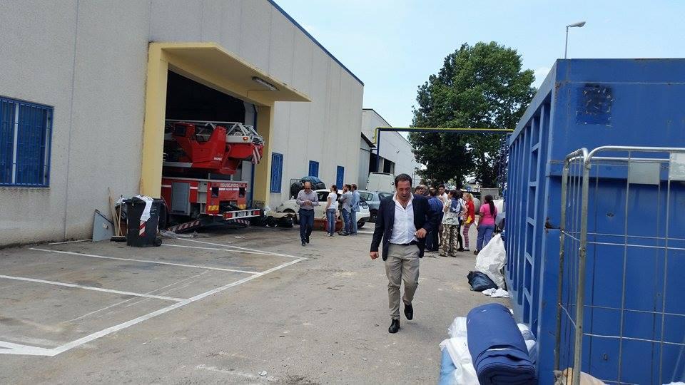 Gricignano – Incendio lavanderia (26.05 (8)