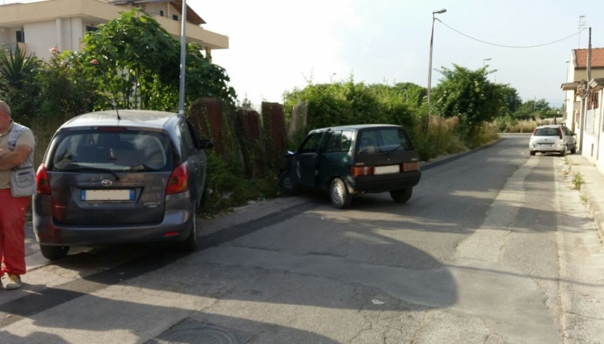 Gricignano - Incidente in Via Clanio