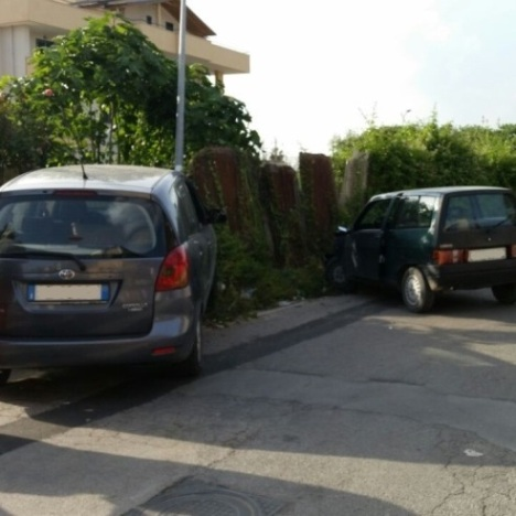 Gricignano – Incidente in Via Clanio