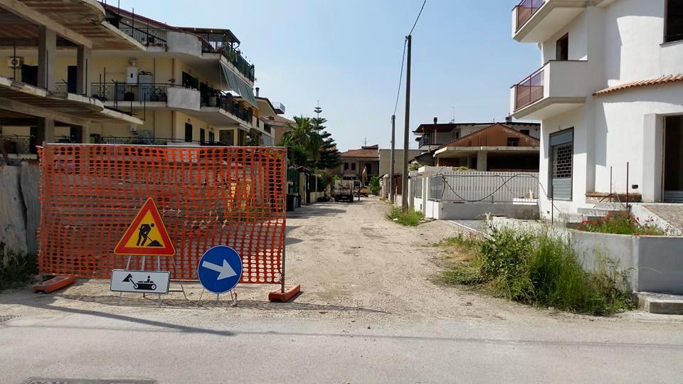 Gricignano – Rete fognaria, inizio lavori (20.05 (2)