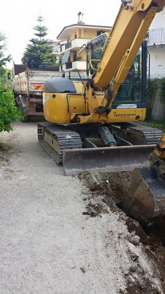 Gricignano – Rete fognaria, inizio lavori (20.05 (4)