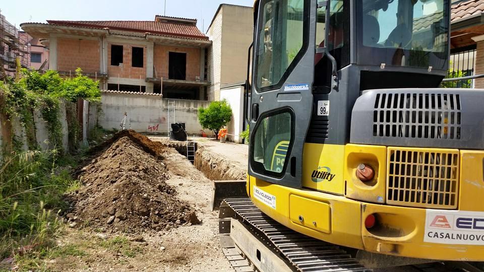 Gricignano – Rete fognaria, inizio lavori (20.05 (7)