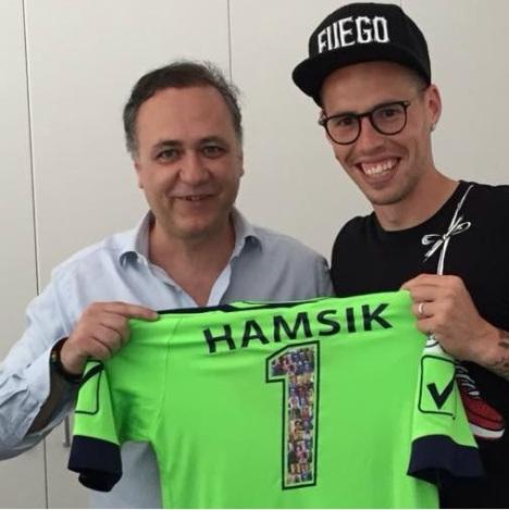 Hamsik con Di Meo