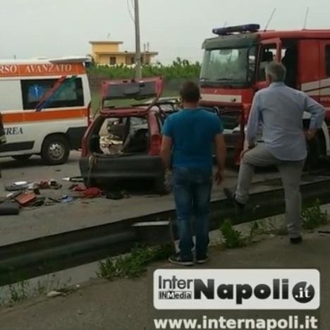 Trentola, incidente Auchan