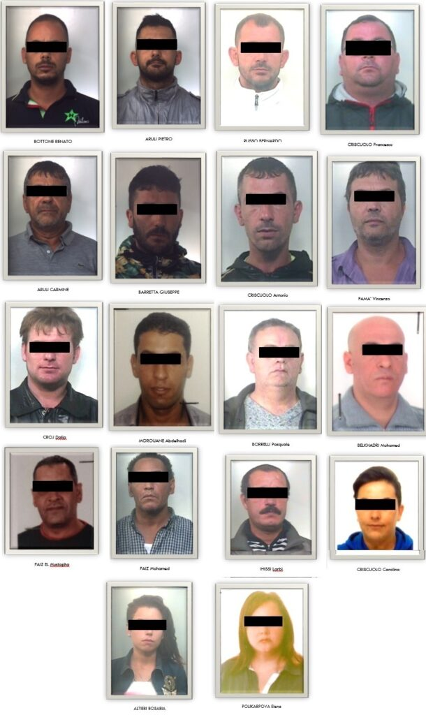 Operazione Bingo, 20 arresti