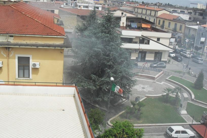 Teverola – Incendio ex Geoeco