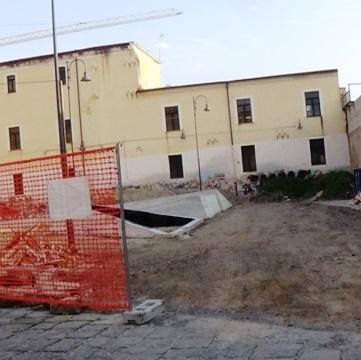 Aversa – Cantiere di Piazza Cirillo