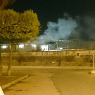 Aversa – Incendio stazione (1)