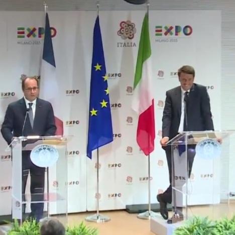 Renzi Hollande ad Expo