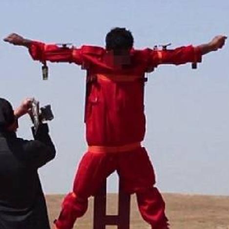 Isis – Siria crocifisso