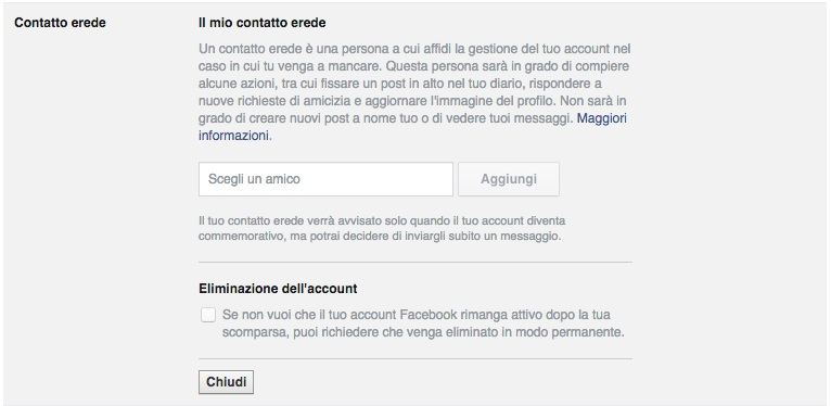 facebook erede