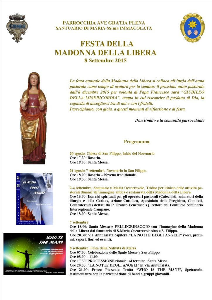 madonna libera piedimonte matese programma 2015