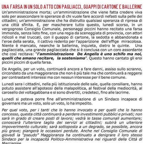 MARCIANISE pd manifesto