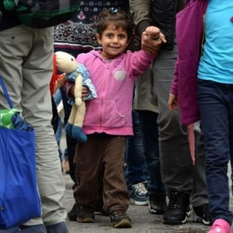 migranti bambina
