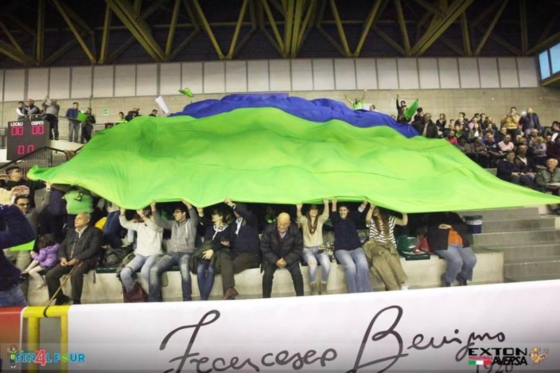 Final Four Coppa Italia B1 maschile, la coreografia dei tifosi
