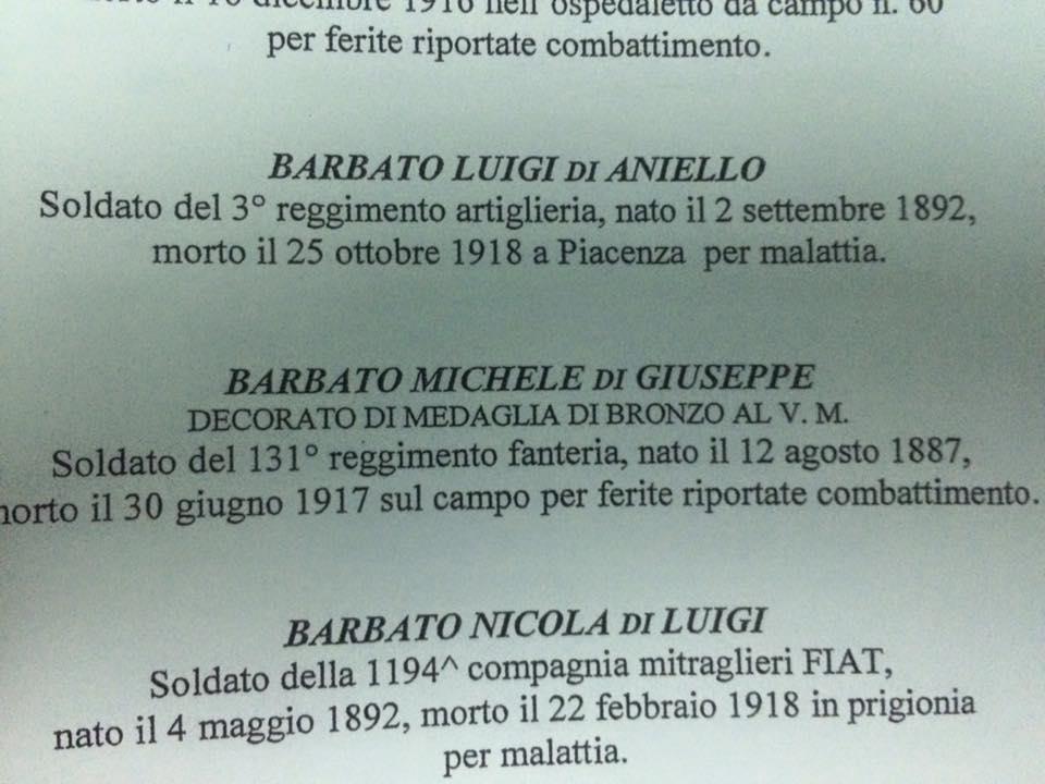Seconda citazione opuscolo Sold.Michele Barbato Carinaro
