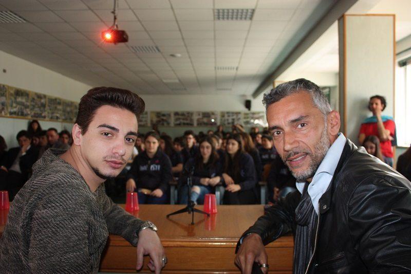 Gianluca Di Gennaro e Sebastiano Rizzo all'Istituto Maristi di Giugliano