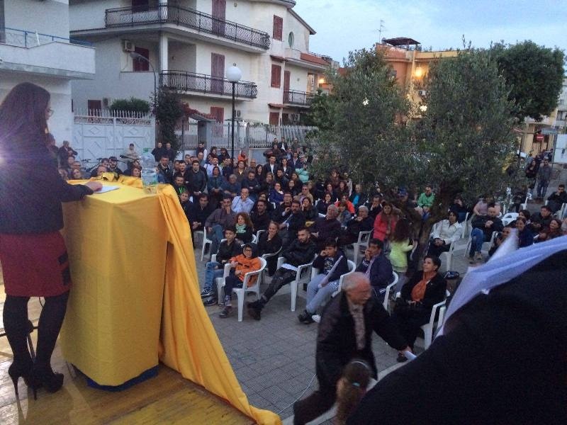 Comizio Sant'Arpino Alleanza Democratica
