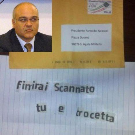Giuseppe Antoci lettera minacce