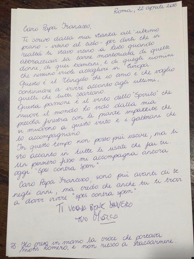 lettera pannella papa