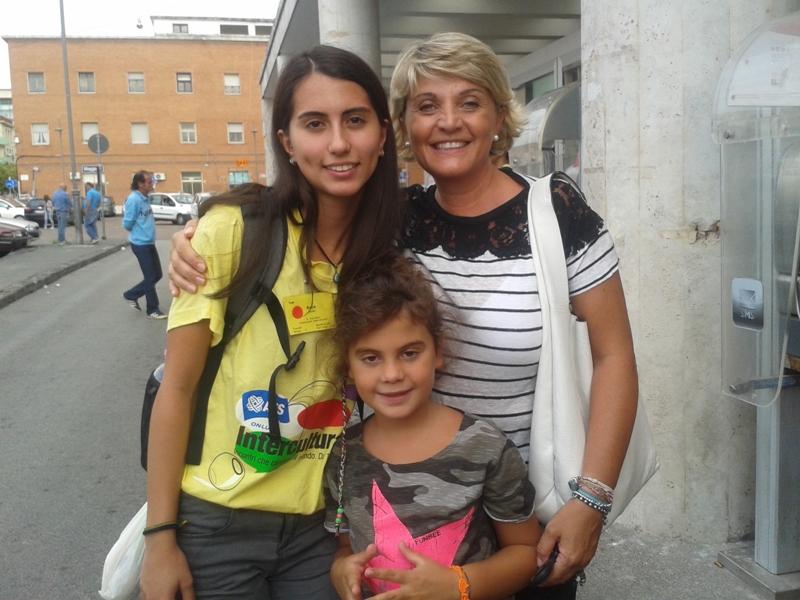 Ayca con mamma Silvana e Camilla