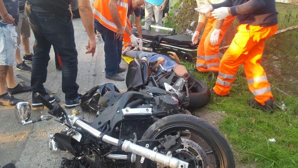 gricignano incidente moto 25set16 (3)