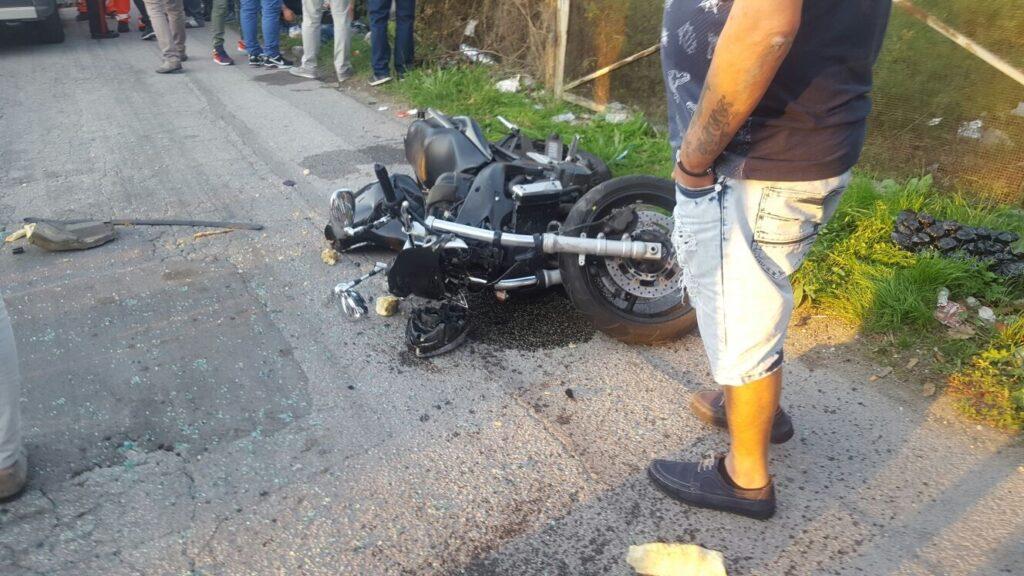 gricignano incidente moto 25set16 (9)