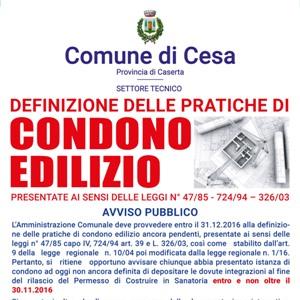 manifesto condono edilizio 2016