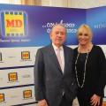 Cav. Patrizio Podini con la nuova testimonial MD Antonella Clerici