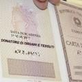 carta identità donazione organi