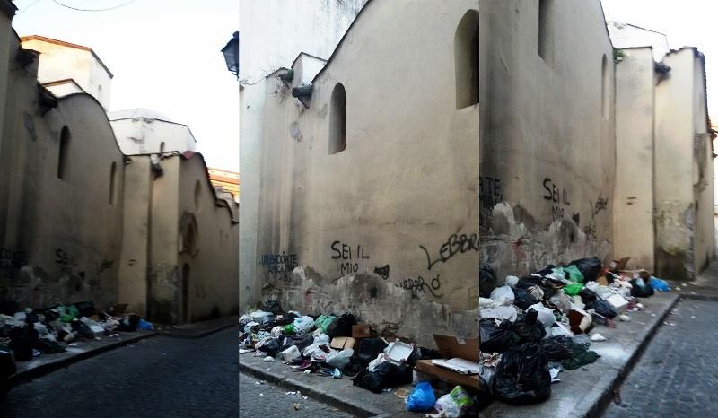 aversa santa maria piazza rifiuti (11)