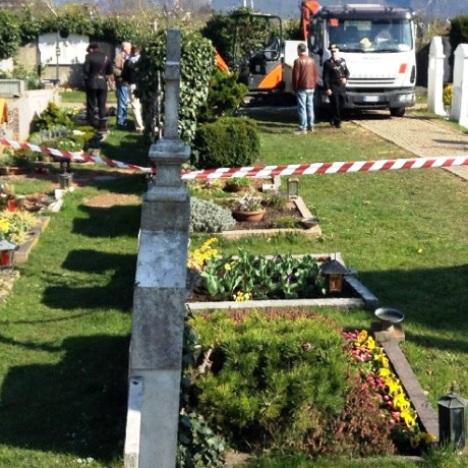 cimitero incidente
