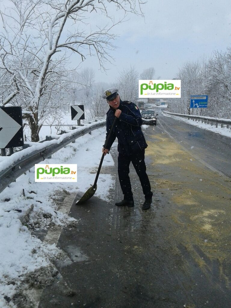 gricignano incidente neve (1)